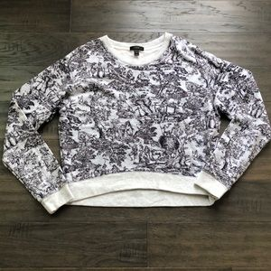 JCrew Toile Print Sweatshirt